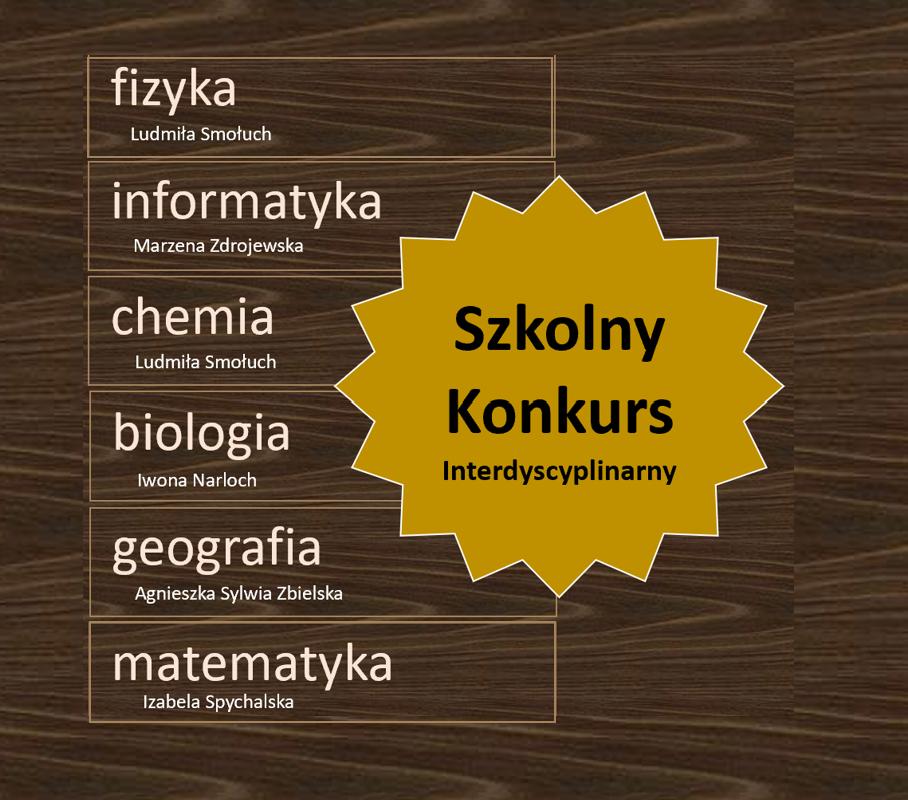 Szkolny konkurs interdyscyplinarny